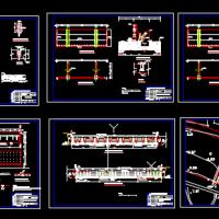 小流域治理翻板闸门CAD设计图纸