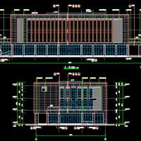 浙江嘉兴3391平米三层框架结构食堂及办公楼建筑图