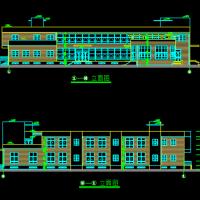 青岛1223平米两层六班幼儿园建筑施工图