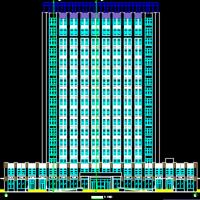 27433平米17层高层办公楼给排水设计图(含建施图)