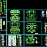 16层高层住宅楼建筑设计图