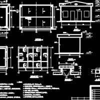 农村饮水安全工程施工设计CAD图纸