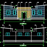 山西某水冲沟槽式厕所建筑施工图