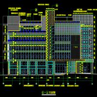 某广场外立面装修综合幕墙工程施工图(玻璃幕 石材幕 铝板幕墙)