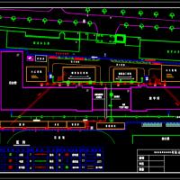 某学校宿舍楼与教学楼建筑施工总平面布置图