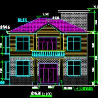 10.76×7.96两层自建别墅建筑结构水电全套