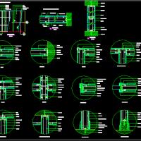 单层石膏板隔墙CAD节点图