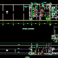 消防水池及泵房平面及剖面详图