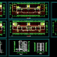 六层框架结构教学楼建筑设计方案图纸