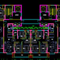 34米面宽一类高层住宅带连廊一梯四户最新户型图