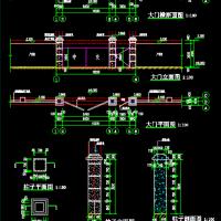 中交集团工地大门及临时围挡设计CAD图纸