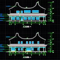 上天竺法喜讲寺建筑设计施工图