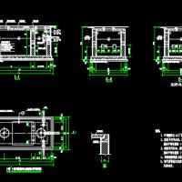 2号~5号砖砌化粪池平、剖面图(02S701第21页)