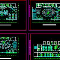 办公楼平面布置CAD图