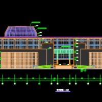 中华女子学院山东分院图书馆建筑设计图