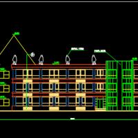2528平米三层九班幼儿园建筑图