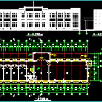 606平米两层框架结构办公楼建筑及结构全套图