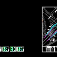 基坑水泥搅拌桩重力式挡墙支护CAD施工图(带说明书)