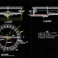 A2O反应池及辐流式沉淀池设计图