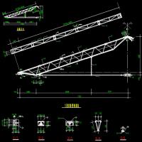14米跨三角拱轻型钢屋架CAD图