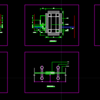 钢化玻璃自动门、不锈钢玻璃地弹门标准节点图