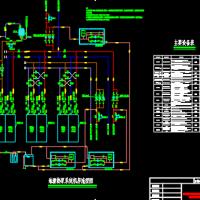 某高层办公楼地源热泵加冷却塔系统机房设计图纸