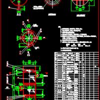 臭氧氧化塔CAD总图