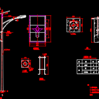 太阳能路灯设计图(5.5米高)