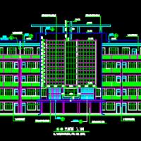 4165平米五层框架结构外廊式教学楼建筑施工图