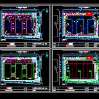 某商业广场施工现场平面布置图(包括临水临电)