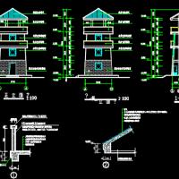 瞭望塔建筑结构水电全套图