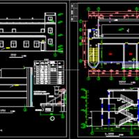 某大学两层食堂建筑图