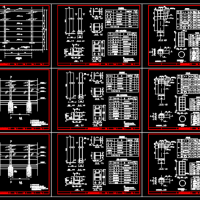 高速公路声屏障CAD构造图