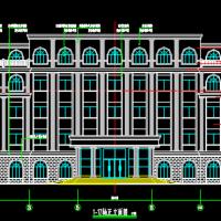 五层框架结构办公楼建筑设计图(简欧风格)
