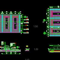机动车与非机动车停车位CAD设计详图