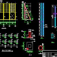 角钢桁架钢结构广告牌施工图