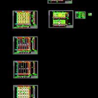 钢结构玻璃顶阳光房设计图纸(点支式)