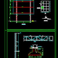 钢结构广告牌CAD图纸