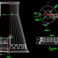 某热电厂自然通风冷却塔设计施工图纸