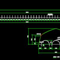 6.5米X35米蔬菜大棚设计图纸