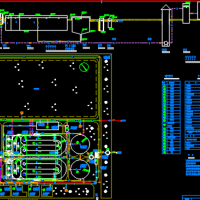 某污水处理厂氧化沟设计平面图和污水高程图