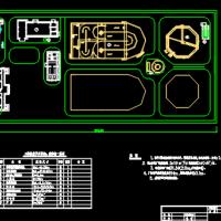 污水处理厂总平面图构筑物一览表