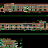 某师范大学男女宿舍及食堂工程建筑施工图