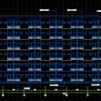 光伏厂区三层框架食堂及六层宿舍楼建筑方案图