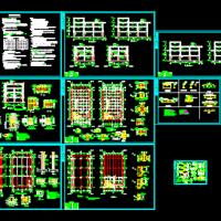 某多层钢框架结构办公楼施工图