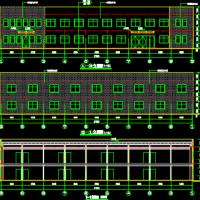 广东1191平米两层钢结构办公楼建筑施工图