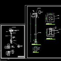 两套室外监控立杆设计CAD图
