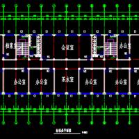 4000平米五层框架结构办公楼毕业设计(含计算书 建筑结构设计图)