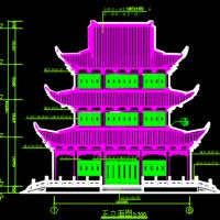 文昌阁古建筑CAD施工图