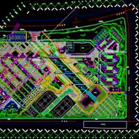 沈阳某工程学院新校区景观设计总平面图